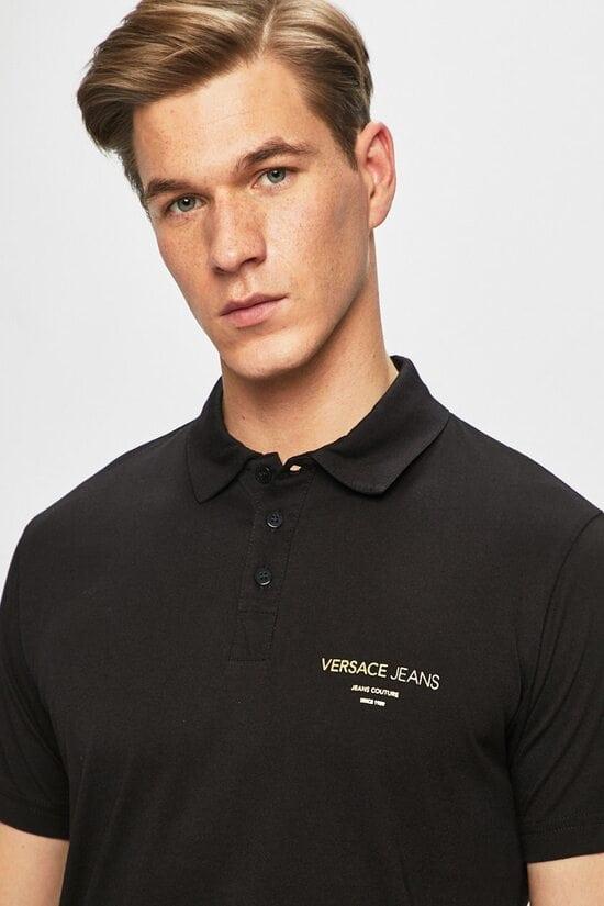 Черная футболка Поло Versace Jeans 1616