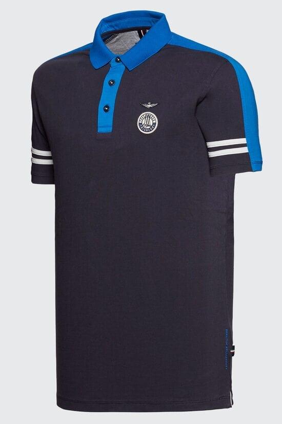 Футболка темно-синего цвета Aeronautica Militare 3012