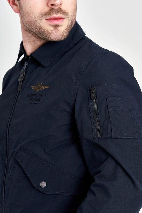 Куртка темно-синяя с принтом Aeronautica Militare 3132