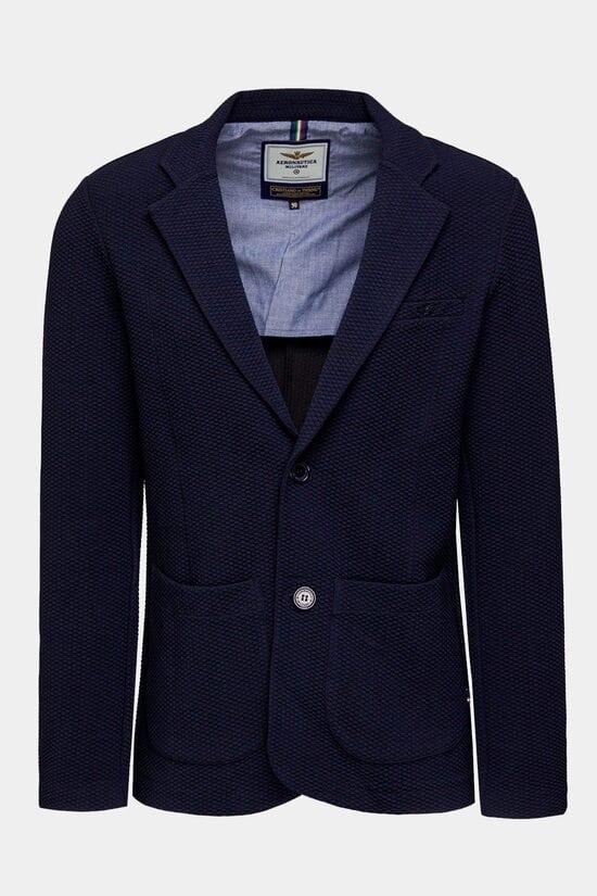 Темно-синий пиджак Aeronautica Militare 3133