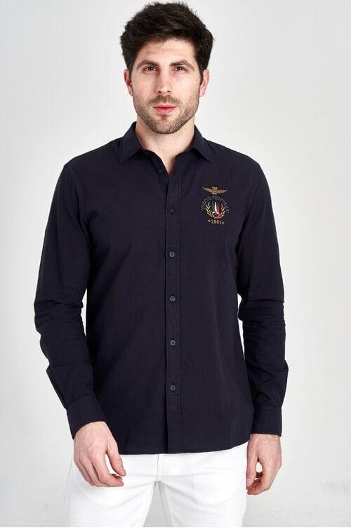 Рубашка темно-синего цвета Aeronautica Militare 3136