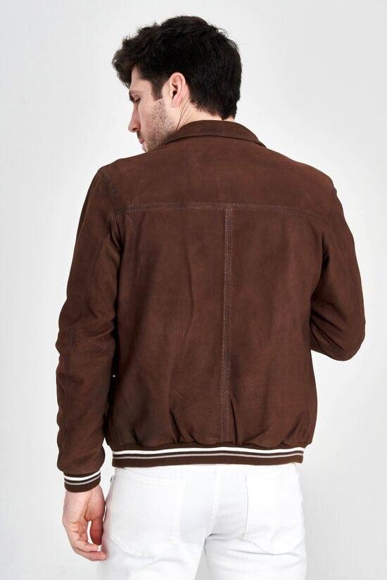 Коричневая мужская куртка Aeronautica Militare 3145