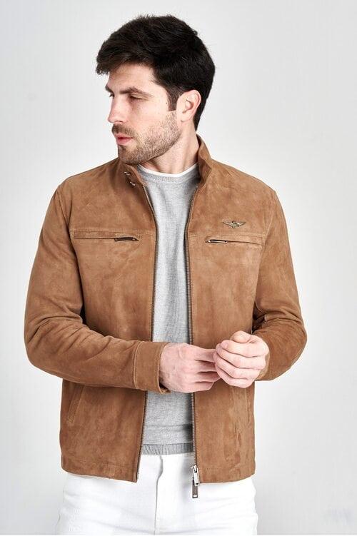 Замшевая куртка Aeronautica Militare 3146