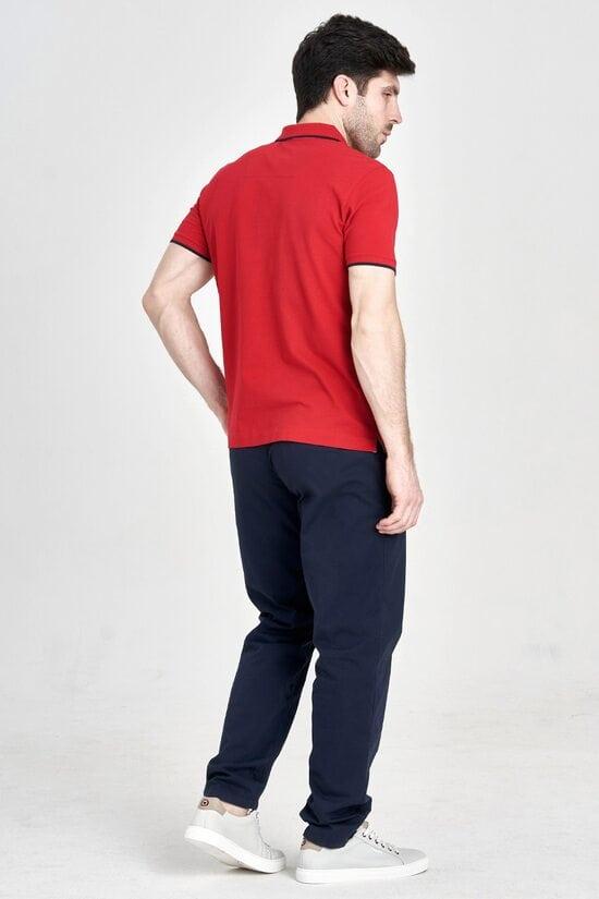 Мужская футболка-поло красного цвета Aeronautica Militare 3150