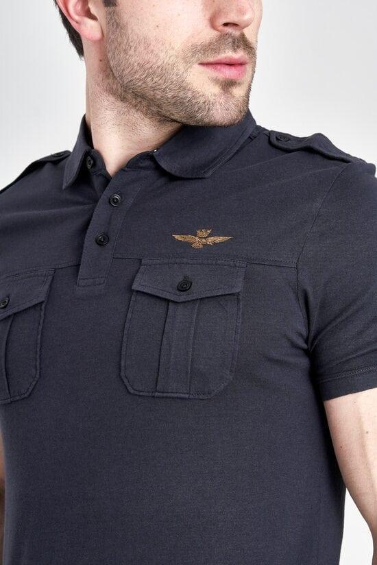 Футболка-поло с карманами Aeronautica Militare 3184