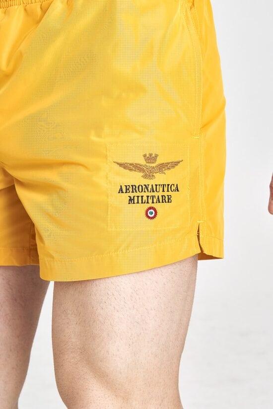 Мужские плавки желтого цвета Aeronautica Militare 3208