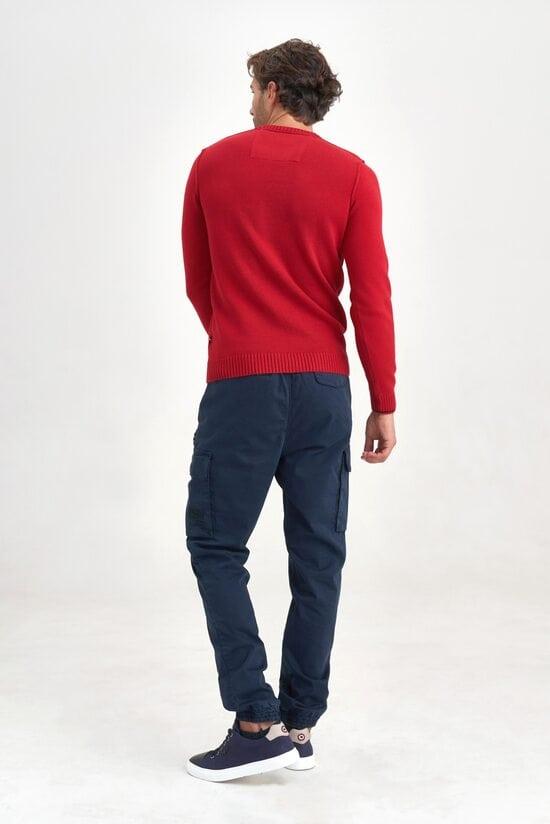 Яркий красный свитер Aeronautica Militare 3503