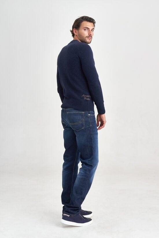 Теплый свитер темно-синего цвета Aeronautica Militare 3548