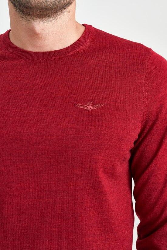 Мужской джемпер красного цвета Aeronautica Militare 3549