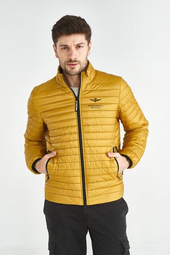 Яркая куртка желтого цвета Aeronautica Militare 3589