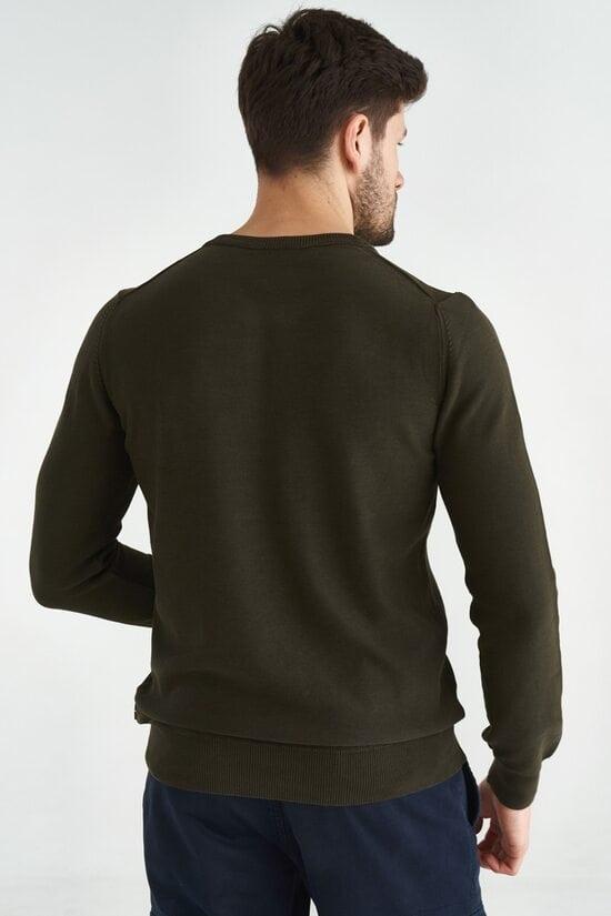 Свитер темно-зеленого цвета с нашивками Aeronautica Militare 3596