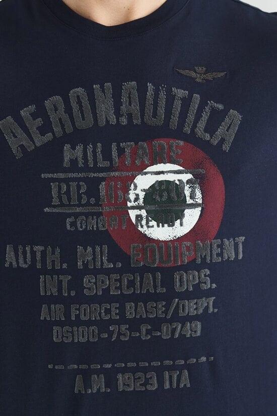 Хлопковая мужская кофта с оригинальным декором Aeronautica Militare 3610