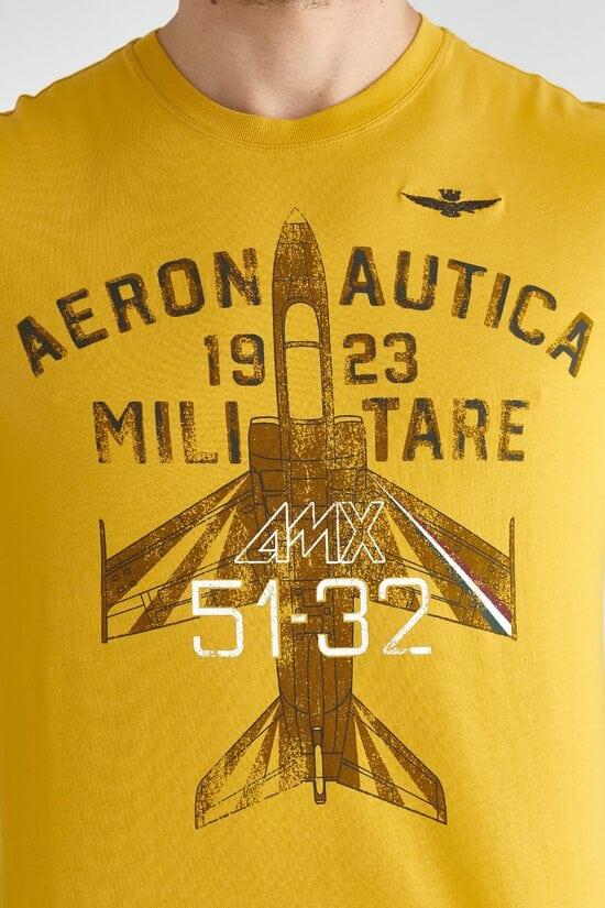 Желтый лонгслив с принтом Aeronautica Militare 3612