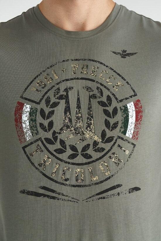 Лонгслив прямого кроя цвета хаки Aeronautica Militare 3618