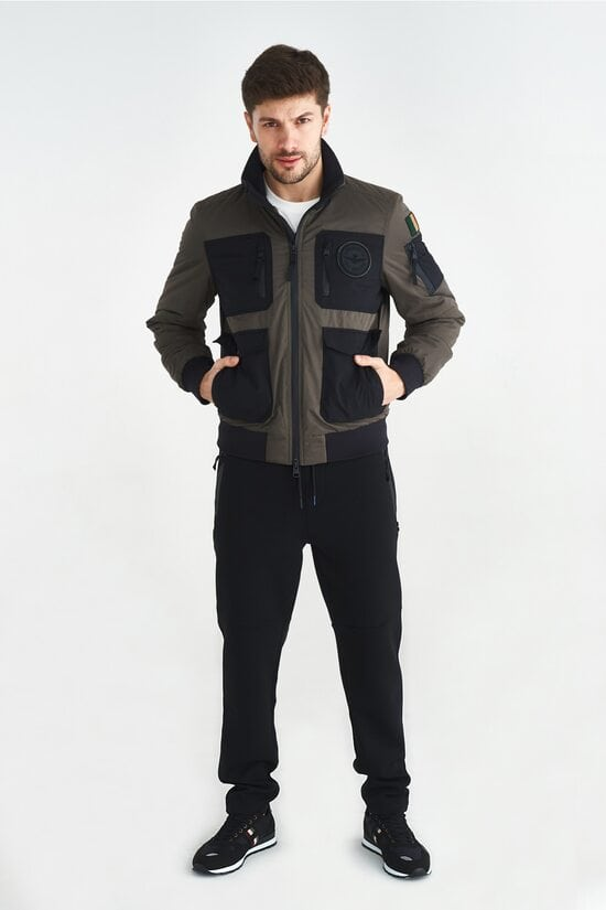Пилотная куртка темно-зеленого цвета Aeronautica Militare 3640