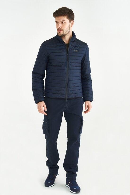 Синяя стеганая куртка Aeronautica Militare 3643