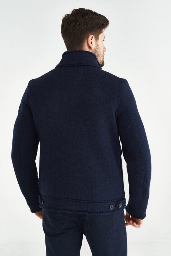 Темно-синяя куртка из шерсти Aeronautica Militare 3644
