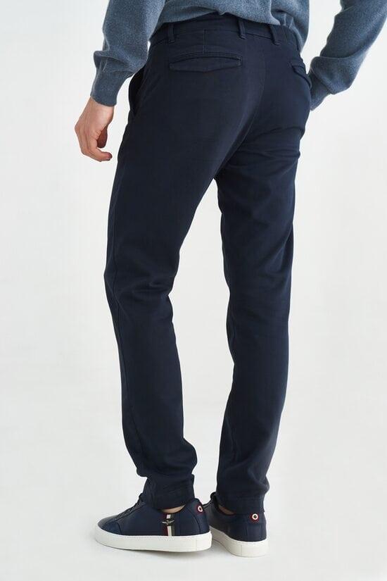 Прямые брюки темно-синего цвета Aeronautica Militare 3647