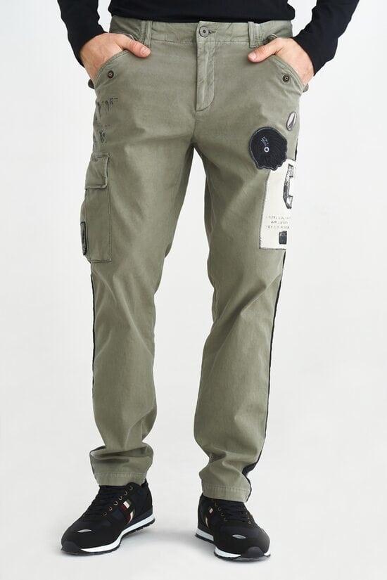 Светлые брюки с лампасами Aeronautica Militare 3657