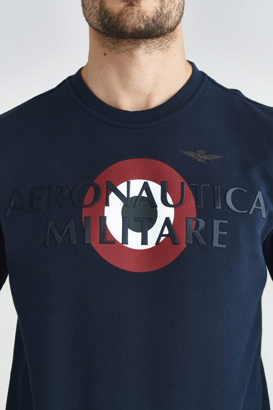 Свитшот с интересным декором Aeronautica Militare 3663