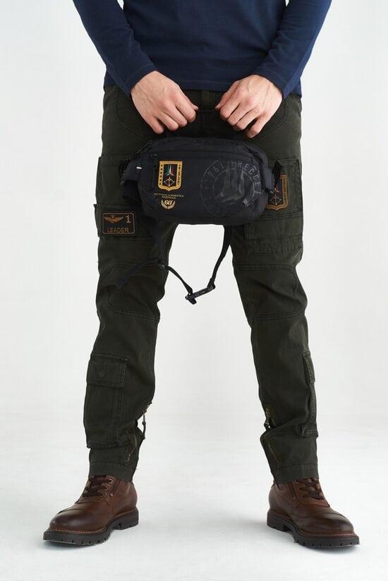 Поясная сумка черного цвета Aeronautica Militare 3674