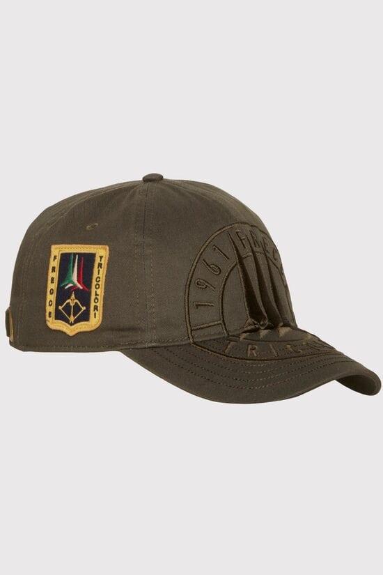 Хлопковая бейсболка цвета хаки Aeronautica Militare 3689