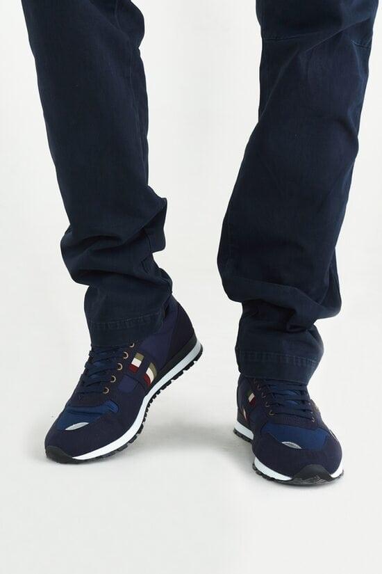 Темно-синие мужские кроссовки с декором Aeronautica Militare 3716