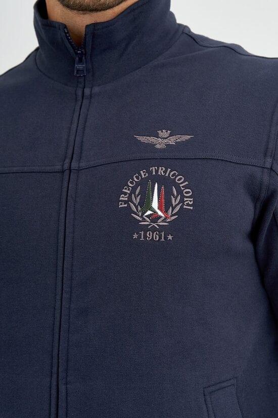 Мужская кофта на молнии с вышивкой Aeronautica Militare 3727