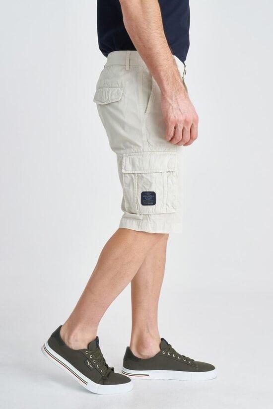 Белые мужские шорты-карго Aeronautica Militare 3812