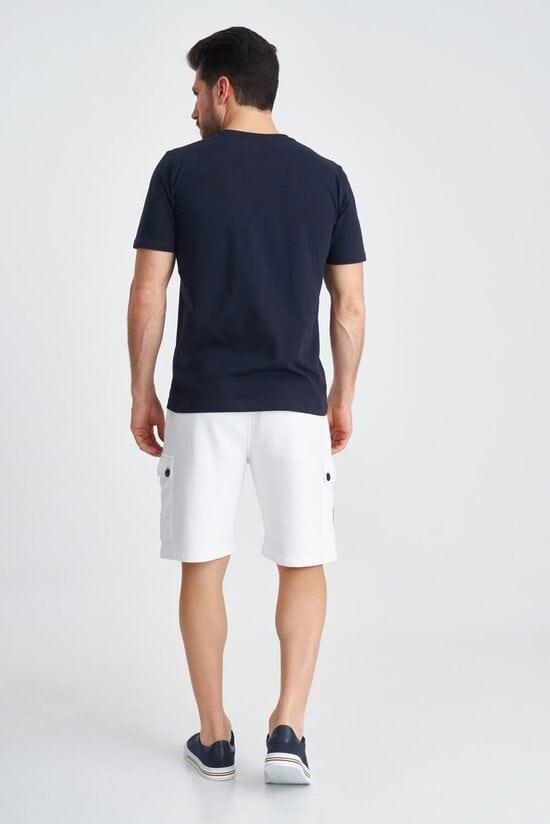 Мужские белые шорты-бермуды Aeronautica Militare 3815