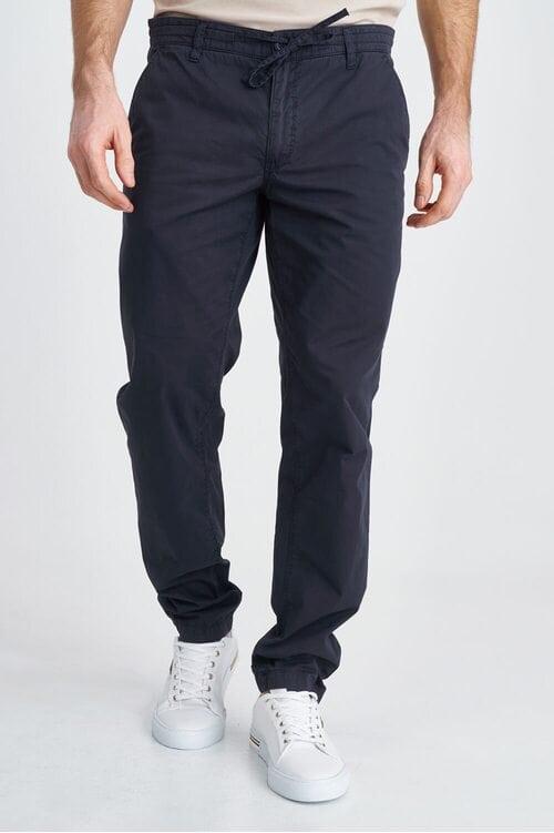 Хлопковые однотонные штаны темно-синего цвета Aeronautica Militare 3816