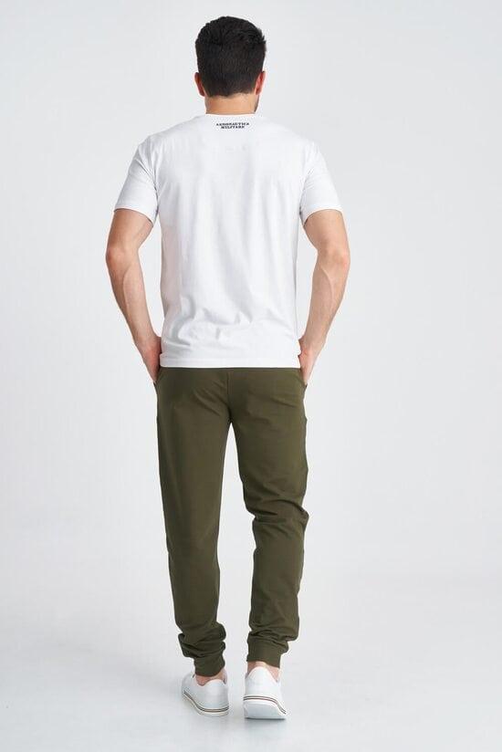 Хлопковые спортивные штаны с эластичным поясом Aeronautica Militare 3821