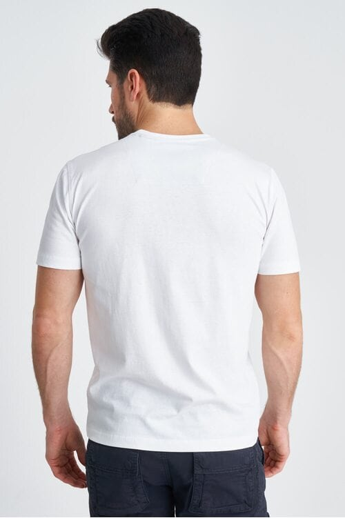Белая мужская футболка из хлопка Aeronautica Militare 3829