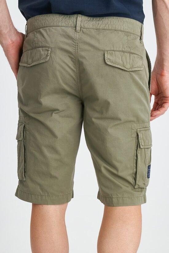 Зеленые мужские шорты-карго с карманами Aeronautica Militare 3830