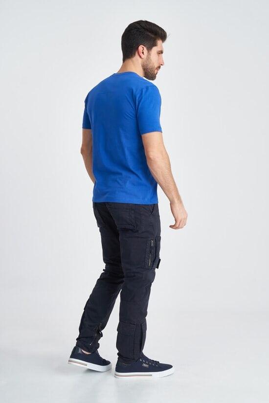 Яркая мужская футболка с принтом Aeronautica Militare 3837
