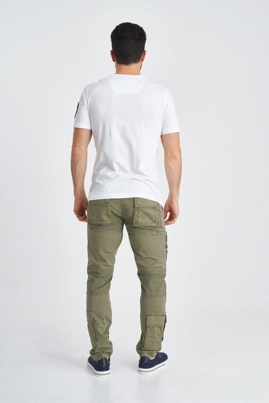 """Белая футболка с черной надписью """"PILOTA"""" Aeronautica Militare 3838"""