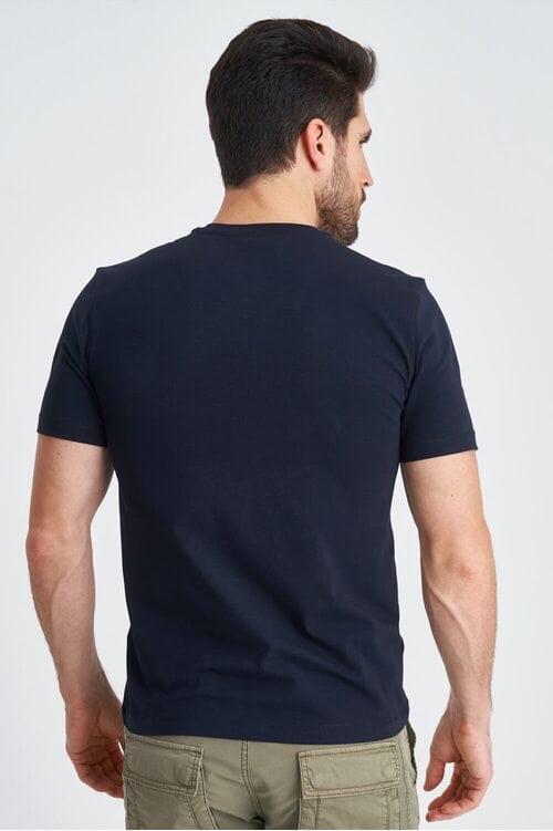 Темно-синяя мужская футболка с летчиком Aeronautica Militare 3843