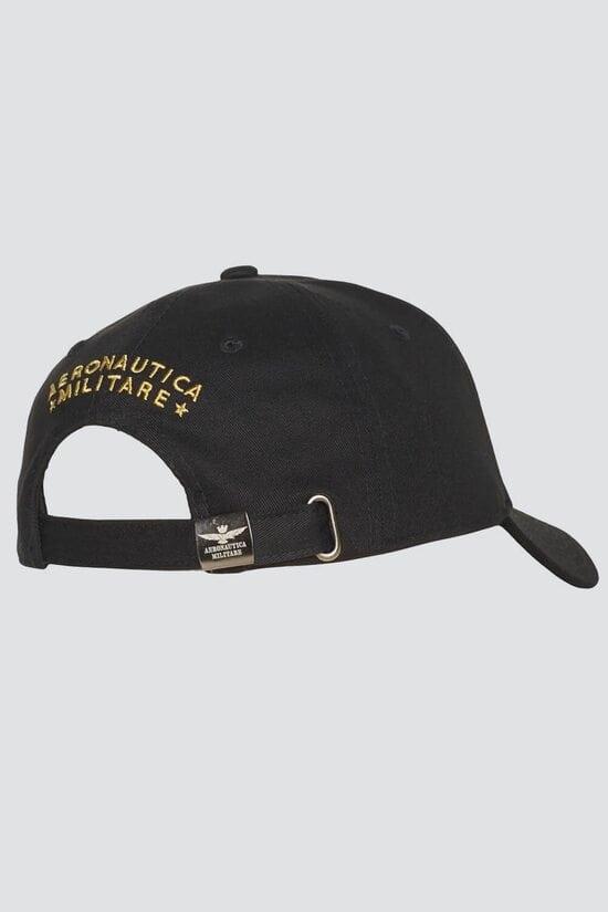 Черная мужская бейсболка из хлопка Aeronautica Militare 3854