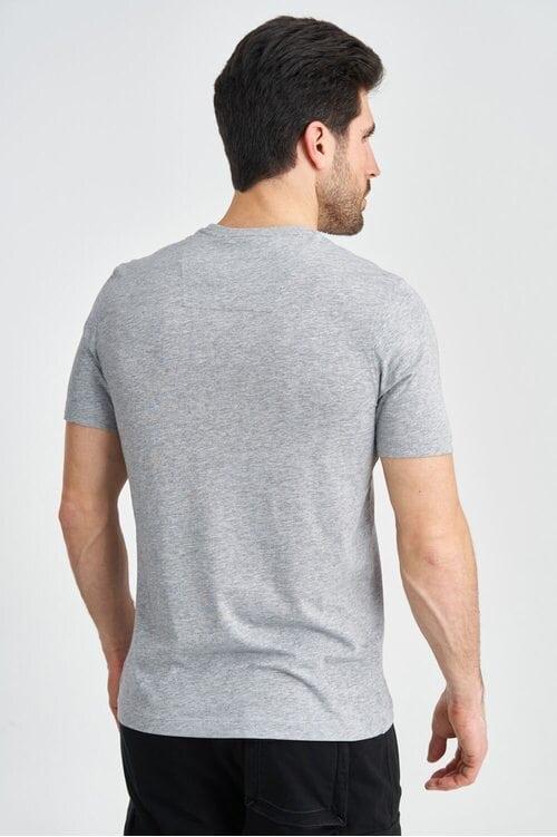 Серая футболка с принтом на груди Aeronautica Militare 3900