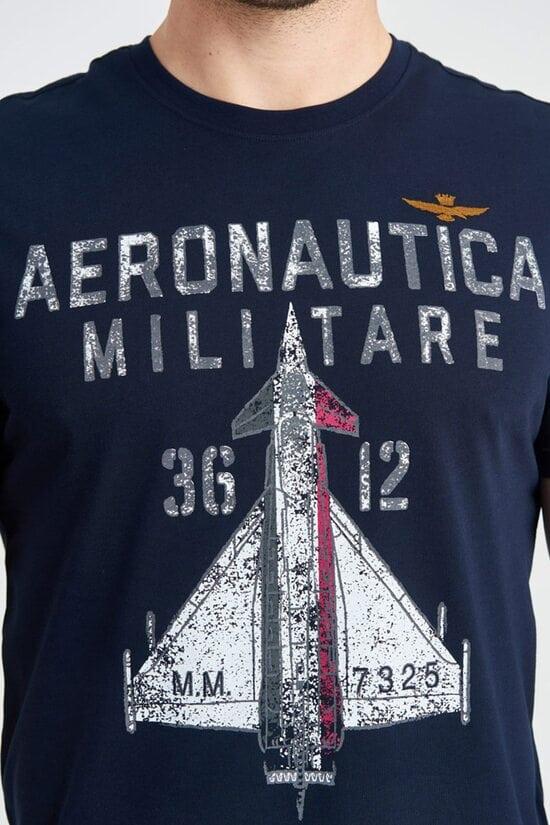Футболка с большим принтом Aeronautica Militare 3913