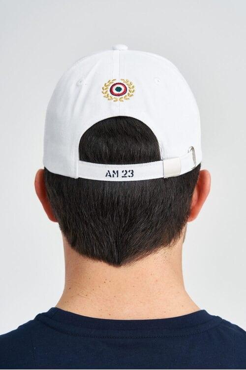 Белая мужская бейсболка Aeronautica Militare 3938