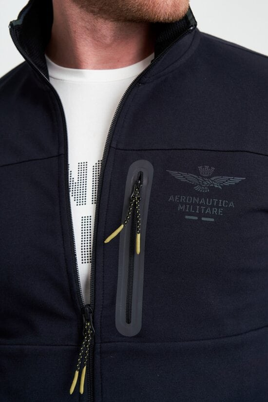 Темно-синяя кофта на молнии Aeronautica Militare 3966