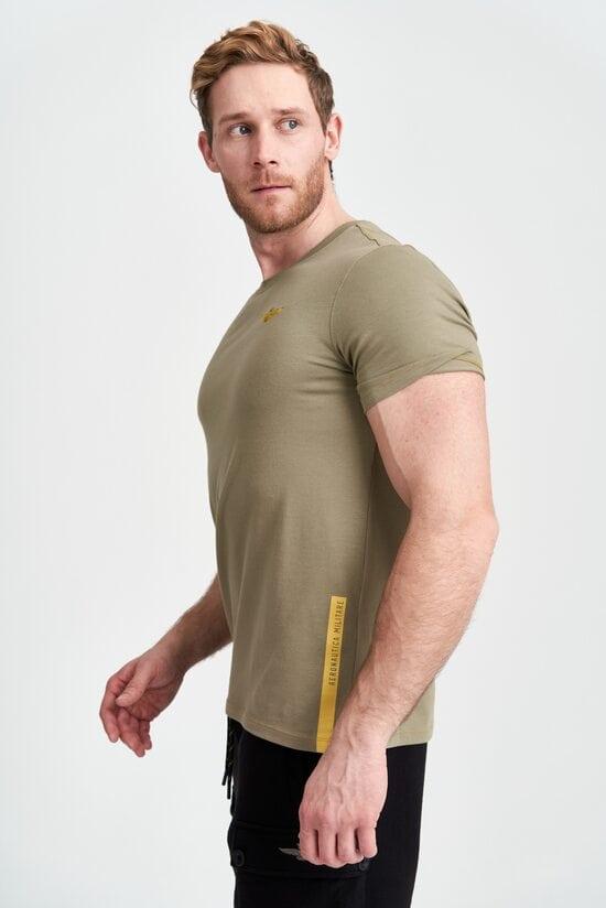 Зеленая футболка с нашивкой Aeronautica Militare 3996
