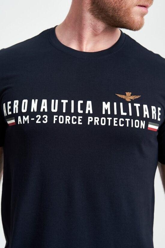 Темно-синяя футболка Force protection от Aeronautica Militare 4100