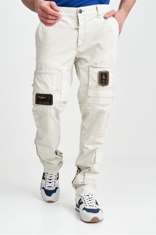 Белые брюки Anti-G с нашивками Aeronautica Militare 4132