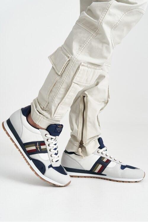 Белые кроссовки с флагом Италии Aeronautica Militare 4144