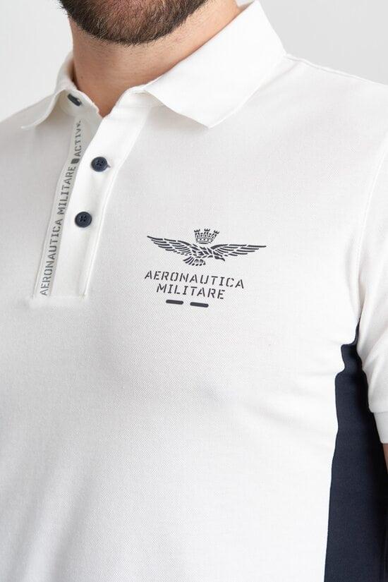 Поло с рефлективными принтами Aeronautica Militare 4157