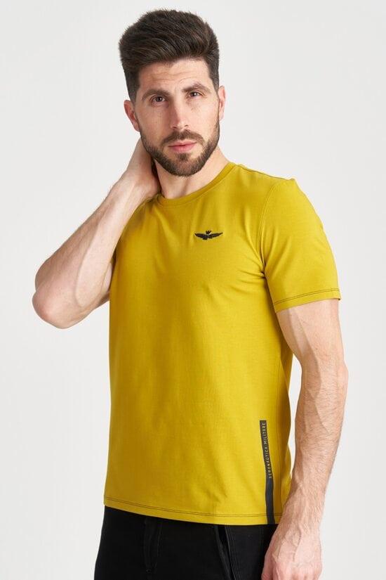 Однотонная футболка с вышивкой Aeronautica Militare 4168