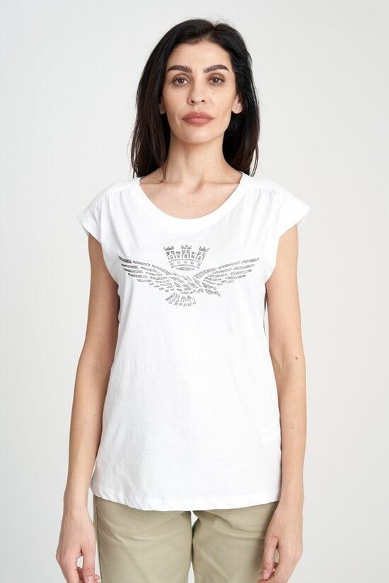Свободная футболка с орлом Aeronautica Militare 3950