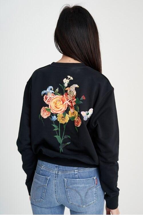 Черный женский свитшот с красочным принтом Miss Sixty 4028
